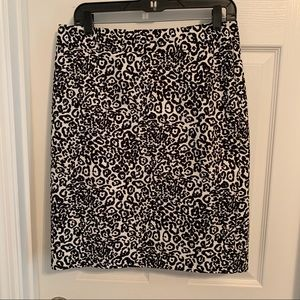 Ann Taylor cheetah print pencil skirt